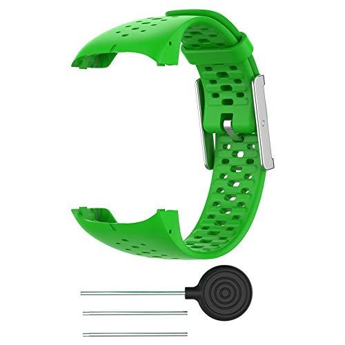 Tixiyu - Correa de repuesto para reloj inteligente Polar M400 / M430 con herramienta (ancho 21,2 mm + longitud: 245 mm)