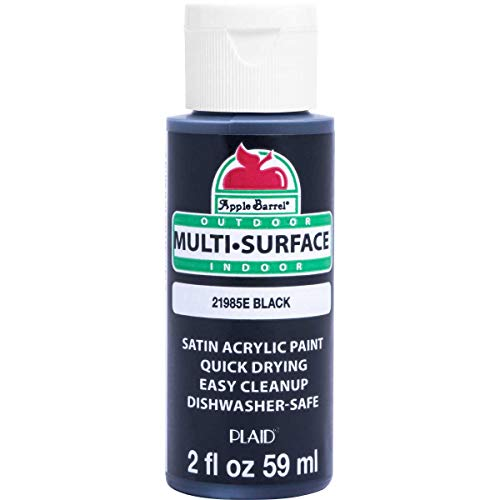 Apple Barrel 21985E Multi Surface Acrylic Paint, 2 oz, Black 2 Fl Oz