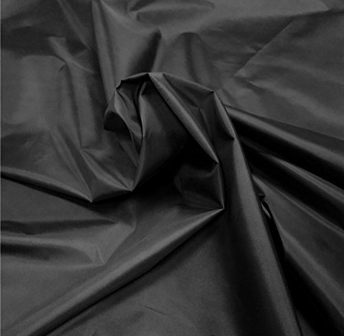 A-Express - Tela impermeable tejido en nylon, cubierta de tienda de acampar, para exteriores., nailon, negro, 2 Meters (200cm x 150cm)
