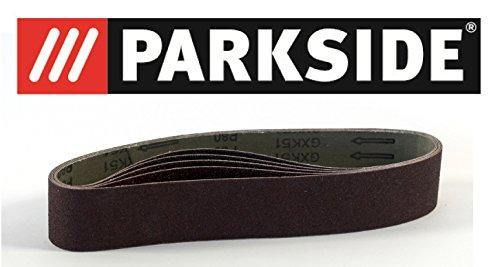 5 Stück Schleifbänder Körnung P80 Parkside für LIDL PARKSIDE Standbandschleifer PSBS 240 B2 und auch passend für PSBS 240 A1