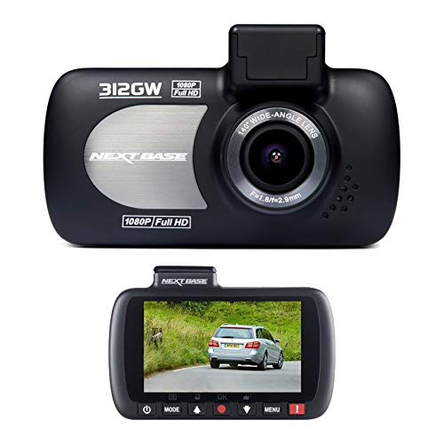 Nextbase 312G - Full 1080p HD In-Car Dash Camera DVR - 140° Ultra Wide Viewing Angle - Night Vision - Parking Mode - GPS Powered Mount - LED Screen - Black