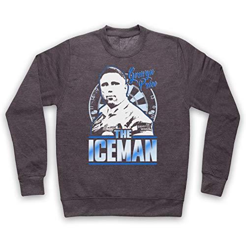 My Icon Art & Clothing Gerwyn Price The Iceman Darts Tribute Welsh Player Erwachsenen Sweatshirt, Holzkohle, XL