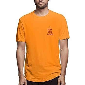 DAQIAO I Feel Like Pablo Black Long Sleeve Shirt Life of Pablo Orange Large