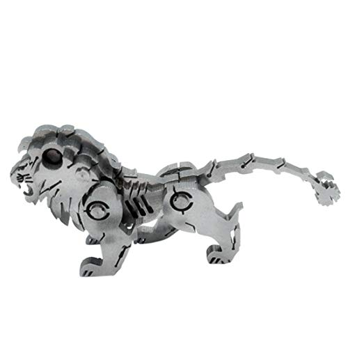 GODNECE 3D Metal Model Puzzle, Metal Model Kits to Build DIY 3D Puzzle Kit DIY Puzzle Construction Set Toys - Lion 3D Models to Build