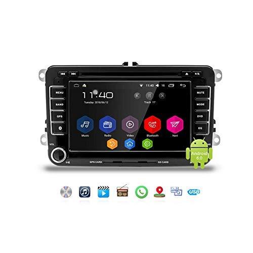 IF.HLMF Android 8.1 Car DVD Player 7 Pulgadas Dash GPS Stereo Radio 2-DIN Pantalla táctil capacitiva, WiFi, Bluetooth, Vista de Marcha atrás Compatible para VW/Passat/Seat con Canbus