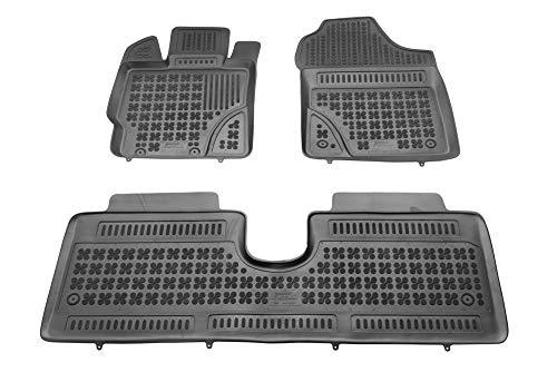 MTM Tappetini Gomma Yaris III dal 09.2011- Design a Vaschetta, su Misura con Bordi Rialzati cod. 3D 5747