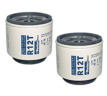R12T Racor Fuel Filter Water Separator  Pack of 2  10 Micron Aquabloc Series 120A 140R