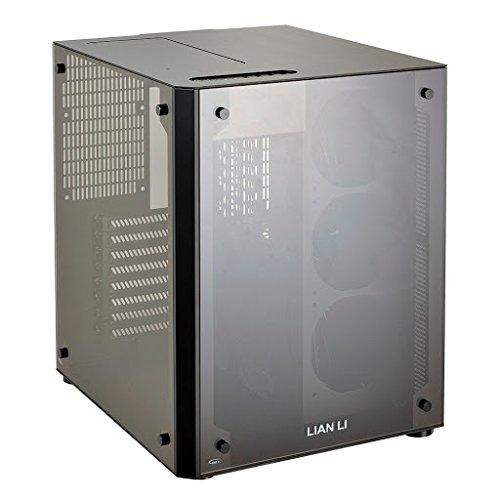Lian Li PC-O8S WX Schwarz - Computer-Gehäuse (PC, Aluminium, Gehärtetes Glas, ATX,EATX,Micro-ATX, Schwarz, 17 cm, 37 cm)