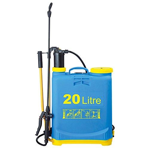Parkland Pump Action Pressure Sprayer - use with water, fertilizer or pesticides (1, 20L Knapsack Sprayer)