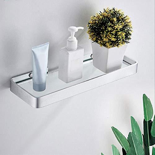 Aluminium badkamer opbergmand Geen boren Gehard glas Enkellaags toilet Douchebak Badkamer Legborden met één laag