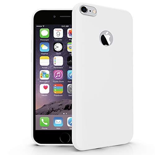 N NEWTOP Carcasa compatible para Apple iPhone 6 Plus/6S Plus, funda de TPU suave gel silicona ultra fina flexible carcasa trasera protectora (blanco)