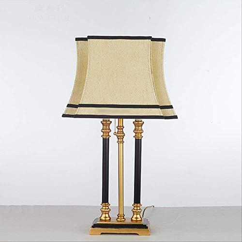 Retro Resub Spaced Pillar Tischlampe Mit Stoff Lampenschirm lamparas de mesa Schreibtisch Licht Deco Luminaria Für Wohnzimmer Knopfschalter 80 CM Höhe