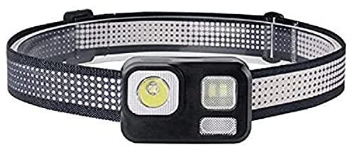 AMDHZ luz de la Cabeza Luz roja Luz de Cabeza de 8 Modo Potente 180lm Cabeza antorcha Impermeable Caza luz Camping y Senderismo Faros LED Mini Faro, Faro Recargable