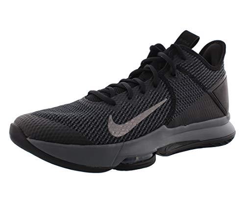 Nike Lebron Witness IV Scarpe Da Pallacanestro Uomo, nero (Nero/Nero-Ferro Grigio-Antracite), 45 EU