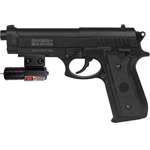 Pistola SA P92 BAX (láser)   Pack Pistola Tipo Beretta 92 de balines BB's de Acero de Aire comprimido (CO2) Calibre 4.5mm + láser Deportivo