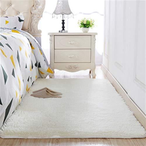 Jnszs Alfombra gruesa de seda lavada, antideslizante, para sala de estar, mesa de café, cojín suave, alfombra para dormitorio (color: 7, tamaño: 50 x 80 cm)