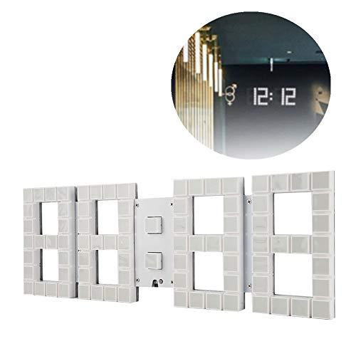 Multifunctionele stereo-afstandsbediening, digitale wandklok, led-elektronische wandklok, wekker met countdown, temperatuurweergave, US-stekker, 110 – 240 V