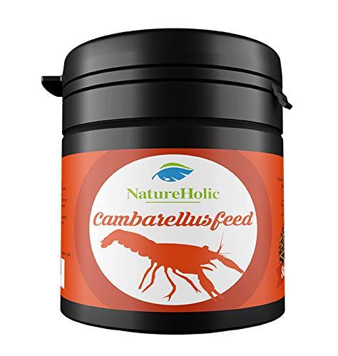 NatureHolic - Camberellusfeed CPO/Zwergkrebsfutter - 30g Futter für Süßwasserkrebse der Gattung Cambarellus, Procambarus & Co.