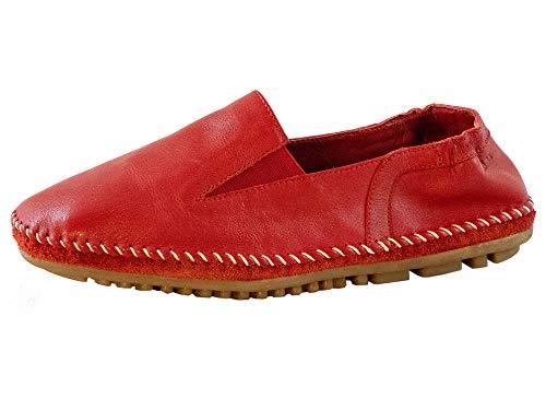 Marc Shoes Damen Luna II Ballerinas, Rot