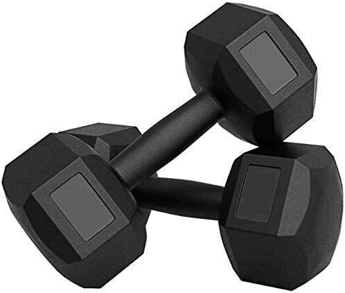FGVDJ Dumbbells Suge Fitness Dumbbell Set, Home Equipo de Fitness para Hombres Ejercicio para Gimnasio Equipo de Entrenamiento de Culturismo en Interiores, Negro, 10