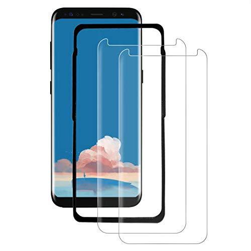 SYANFI [2 Pezzi] Vetro Temperato per Samsung Galaxy S8, Pellicola Protettiva 3D Copertura Completa, 9H Durezza, Senza Bolle, Anti-Graffi, HD Chiaro