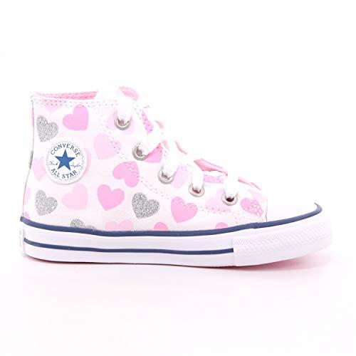 CONVERSE CTAS HI Zapatos Deportivos para Nina Fantasia Corazones 768018C