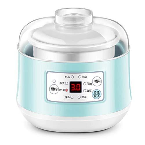 GAYBJ 220V Multifunktions-Slow Cooker Elektrokochtopf Keramik Liner Wasserdampf Dünsten Suppe Porridge Baby Food Kochmaschine