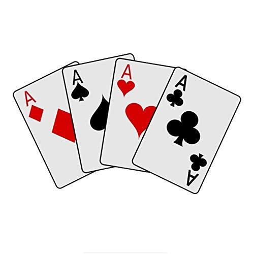 Car Personalizada Sticker Decal Poker Juego de PVC Las Etiquetas del Coche Pegatinas Pegatinas Divertidos 11 * 18cm Accesorios de Motos 2pcs (Color : 1, Size : Not Reflective)