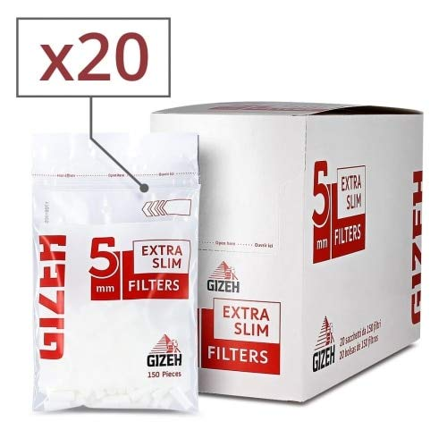 Gizeh Extra Slim Filter 5,3 mm x20 Sachets