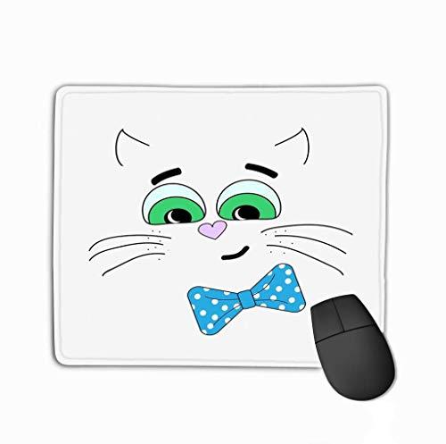 Anti-slip Rubber Mousepad Mouse Pad Illustratie kat Witte Achtergrond Sjabloon Cover Stof Boeken kat