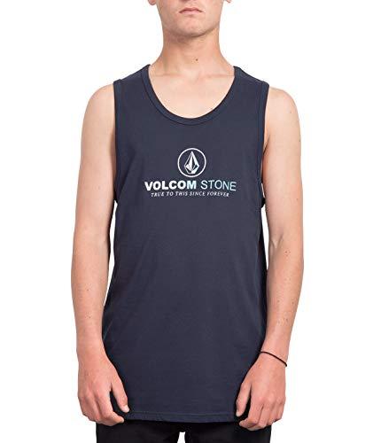 Volcom Super Clean BSC TT Débardeur 100% Coton Biologique Homme, Navy, FR (Taille Fabricant : XS)