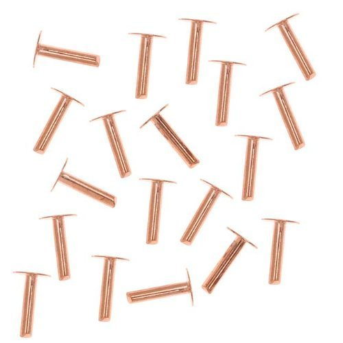 Beadaholique 20-Piece Nail Head Rivets, 1.3mm, Copper by Beadaholiqu