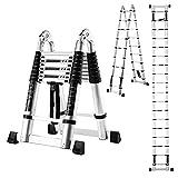 Best Telescoping Ladders - 18.5 FT/9FT Aluminum Telescoping Ladder, 2 in 1 Review