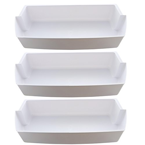 Kitchen Basics 101: 3-Pack Door Shelf Bins 2187172 Replacement for Frigidaire Whirlpool Kenmore Refrigerator PS328468