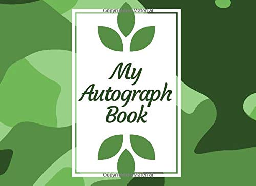 My Autograph Book: Autograph Book For Favourite Celebrity and Cartoon Character Signatures, Sports,...