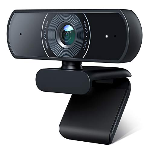 Victure 1080P Webcam, Dual Built-in Microphones, Full HD Video Camera for Computers PC Laptop Desktop, USB Plug and Play, Conference Study Video Calling, Skype