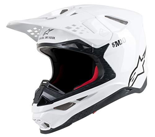 Alpinestars 8300319-2180-L S.Tech S-M10 Solid Helmet White Lg
