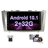 Android Car Stereo for Toyota Camry 2G + 32G Double Din Radio 9'' Touch Screen Head Unit in-Dash Auto Radio with GPS Navigation, Bluetooth, USB, FM, WiFi,SWC, Mirror Link+ Rear View Camera