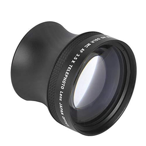 Topiky 3,5-voudige telelens, professionele 52 mm universele telelconverterobjectief van aluminiumlegering met meerdere coatings voor alle DSLR-camera's met 52-mm-aansluiting