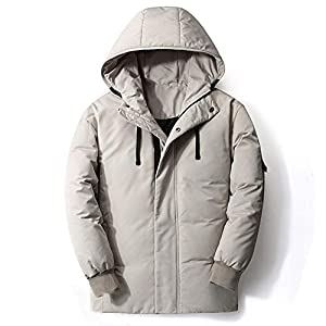 Superior Hooded Down Jacket Parka Light Weight Winter Warm Coat for Men