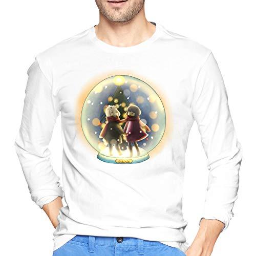 Weihnachts-Schneeball 100% Baumwolle Langarm T-Shirt L