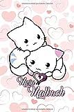 Mein Malbuch: mit süßem Katzen Cover | Tagebuch | Notizbuch | Zeichenbuch | 120 Seiten Blanko | A5+