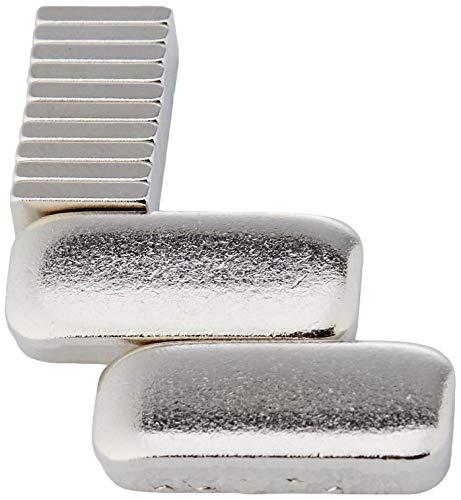 first4magnets F1052-10 x 5 x 2 mm de grosor N42 imanes de neodimio con 1,1 kg tirador (10 unidades)