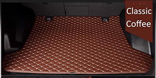 PanYFDD Auto-Kofferraum-Matten for Mercedes Benz W211 W176 W204 Gla Glk W212 W205 C180 W245 W246 Teppich High Class Teppiche Fall Liners (Color : Coffee)