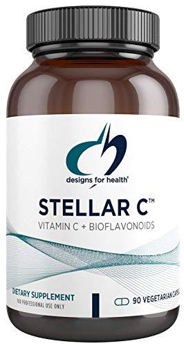 Designs for Health Vitamin C + Bioflavonoid Capsules - Stellar C, 600mg Vitamin C + 200mg Bioflavonoids for Immune Support (90 Capsules)