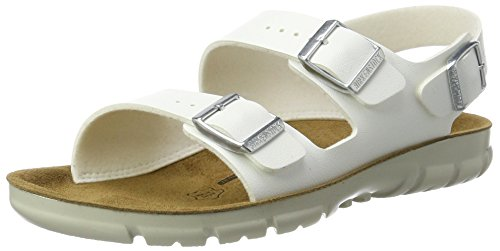 Birkenstock Women's Ankle Strap Sandals, White Weiß 6, 11-11.5