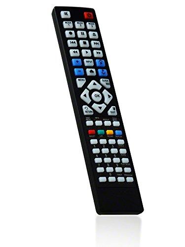 BRC6.10677 Ersatzfernbedienung speziell für PANASONIC DVD Recorder DMR-EH595 - bonremo®-Edition inkl. Batterien
