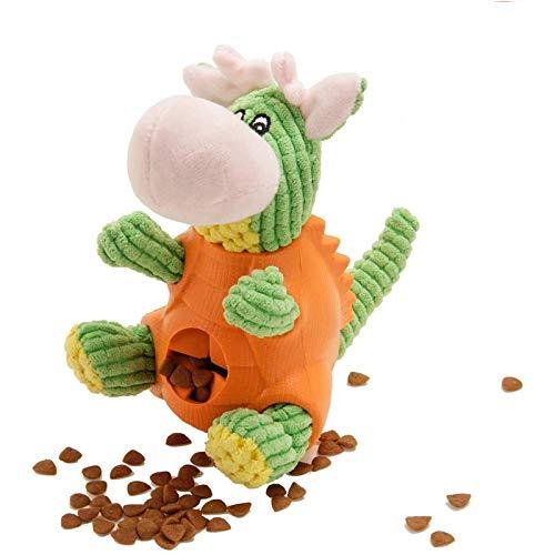 LONGCHAO Juguete de Dinosaurio para Mascotas  Squeak Juguetes para Pequeño Perro Juguete para Masticar  Juego Interactivo Entrenamiento y Ejercicio en Exteriores Juguetes Masticar de Perros