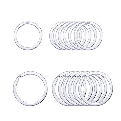 Key Rings,Key Ring Keyring Rustproof, Dog Tag Ring Flat Key Rings Rings Split Keyrings for Home Car Keys Attachment,12 pcs