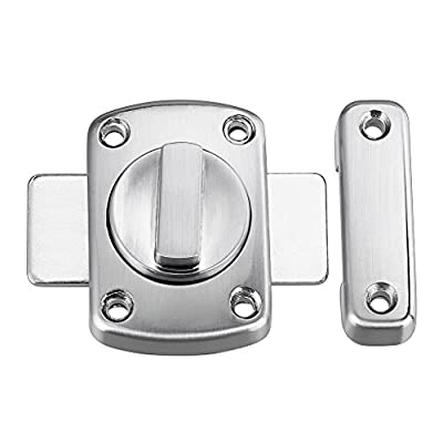 Sumnacon Stainless Steel Safety Door Latches, Solid Rotate Bolt Latch Gate Latches/Lock for Pet Gate,Cabinet Furniture, Window, Bathroom, Brushed Finish